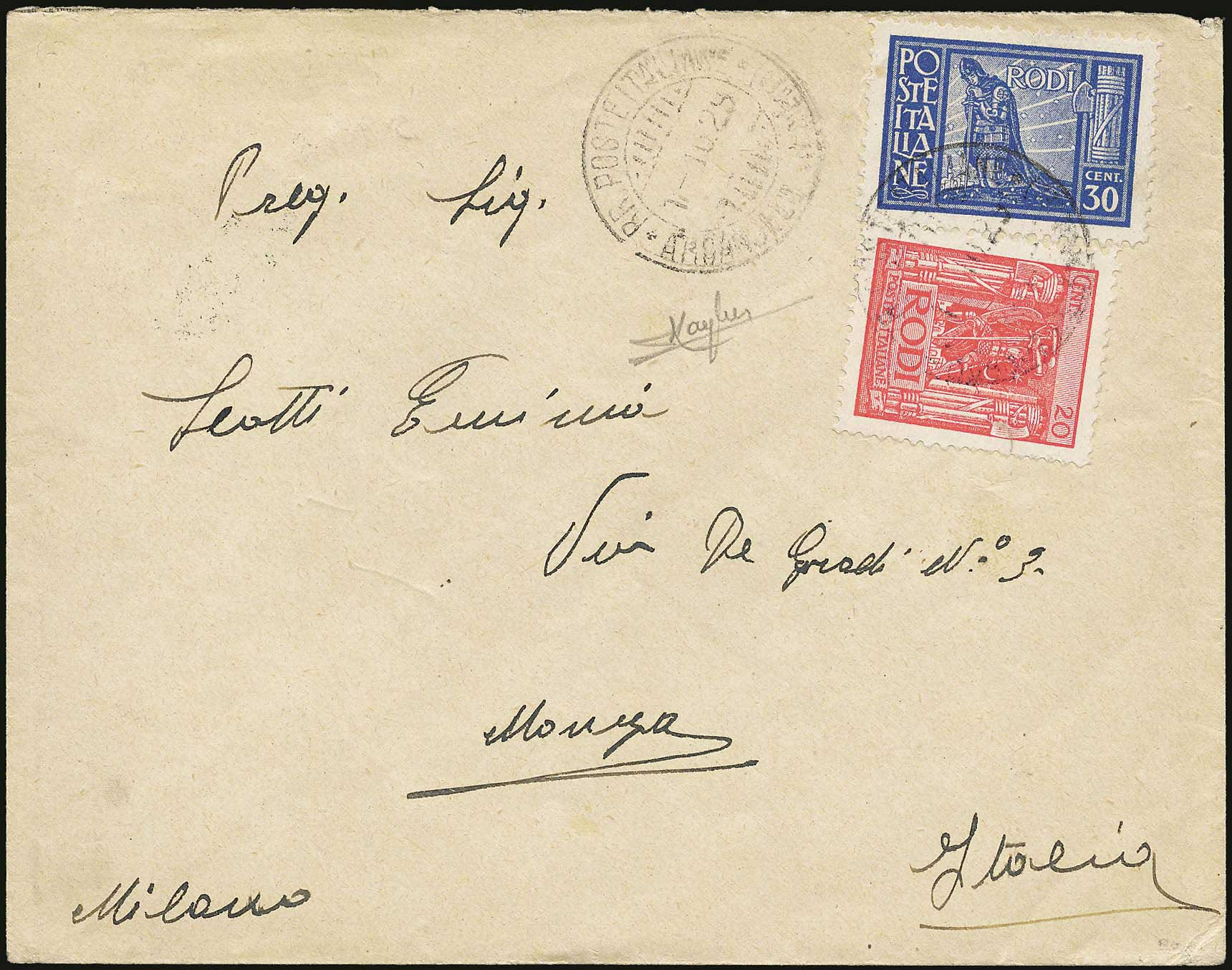 Lot 659 - Dodecanese italian dodecanese - italian post office issues -  A. Karamitsos Postal & Live Internet Auction 680 General Philatelic Auction