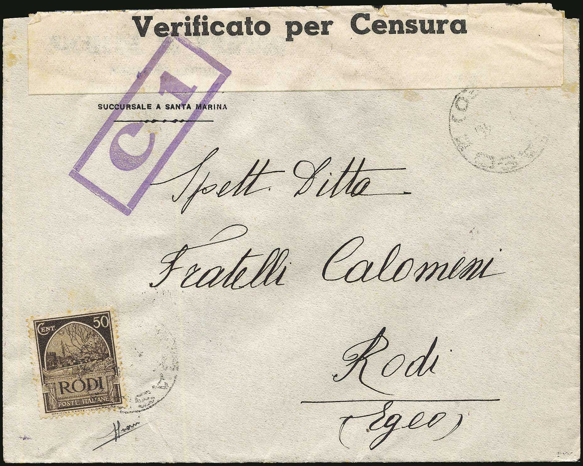 Lot 664 - Dodecanese italian dodecanese - italian post office issues -  A. Karamitsos Postal & Live Internet Auction 680 General Philatelic Auction