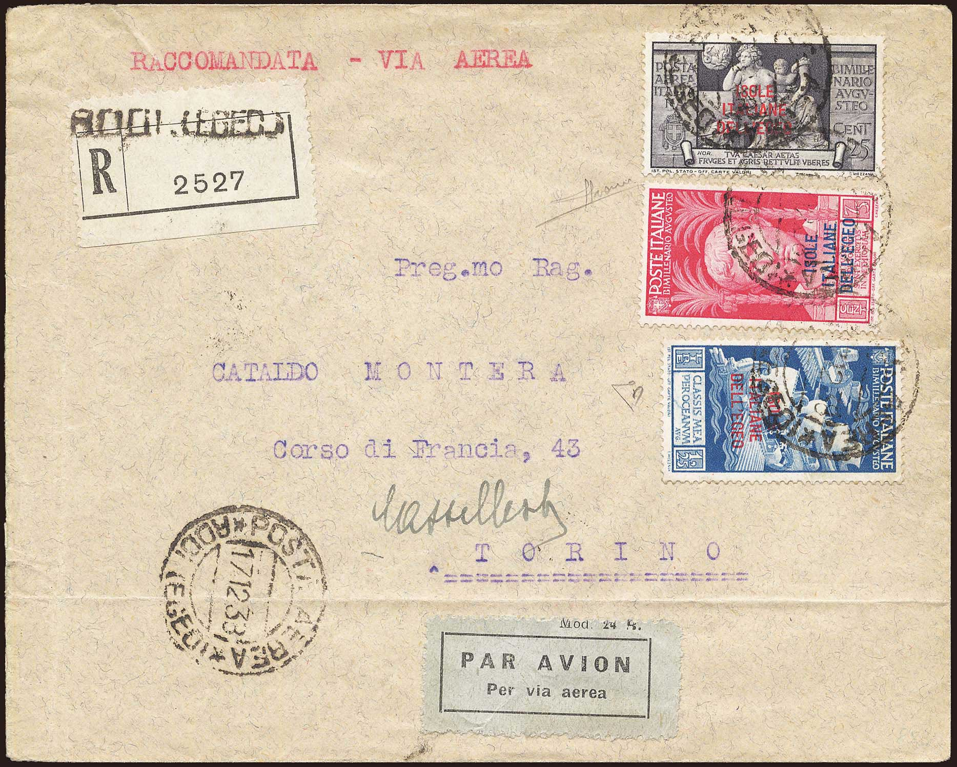Lot 663 - Dodecanese italian dodecanese - italian post office issues -  A. Karamitsos Postal & Live Internet Auction 680 General Philatelic Auction