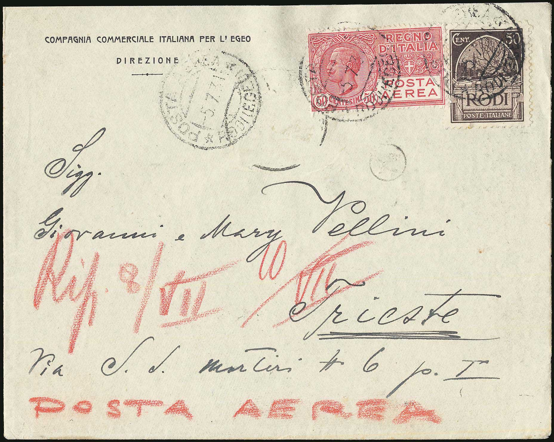 Lot 661 - Dodecanese italian dodecanese - italian post office issues -  A. Karamitsos Postal & Live Internet Auction 680 General Philatelic Auction