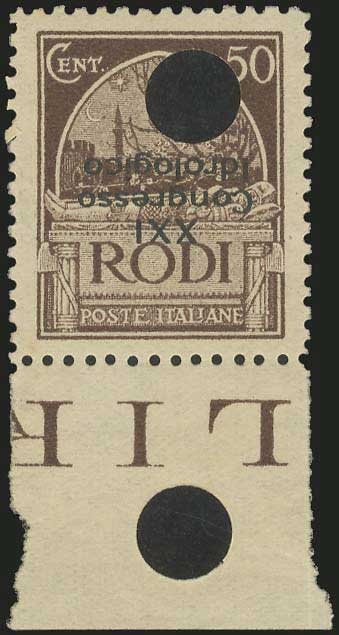 Lot 637 - -  DODECANESE italian dodecanese - italian post office issues -  A. Karamitsos Public & Live Internet Auction 683
