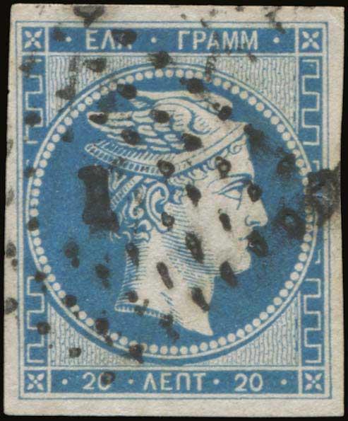 Lot 10 - -  LARGE HERMES HEAD 1861 paris print -  A. Karamitsos Public Auction 643 General Stamp Sale