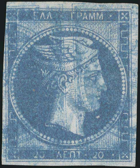 Lot 2 - GREECE-  LARGE HERMES HEAD large hermes head -  A. Karamitsos Public Auction 630 General Stamp Sale