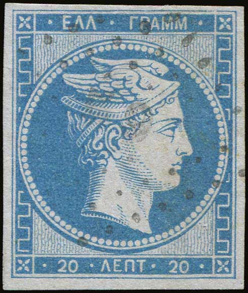 Lot 10 - -  LARGE HERMES HEAD 1861 paris print -  A. Karamitsos Public Auction 646 General Stamp Sale