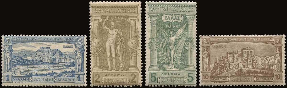 Lot 1101 - GREECE-  1896 FIRST OLYMPIC GAMES 1896 first olympic games -  A. Karamitsos Public Auction 599 General Stamp Sale