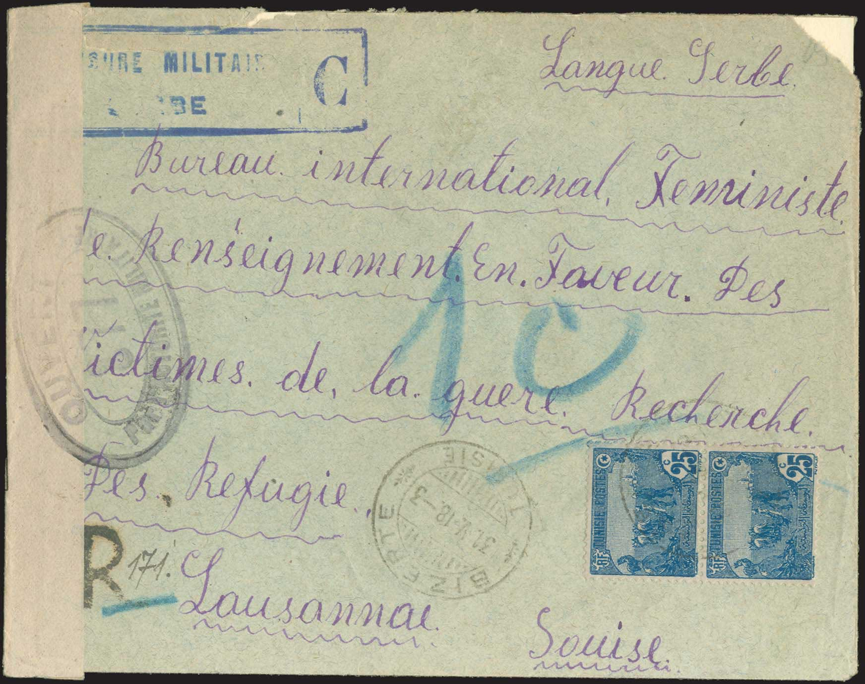 Lot 832 - military cancellations Serbian military post-offices -  A. Karamitsos Public & Live Internet Auction 672
