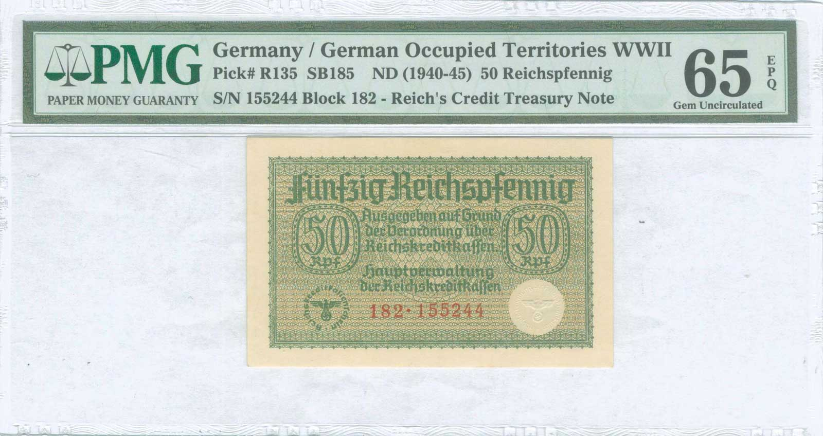 Lot 9407 - GREECE-  PAPER MONEY - BANKNOTES german occupation wwii -  A. Karamitsos Public & LIVE Bid Auction 610 Coins, Medals & Banknotes