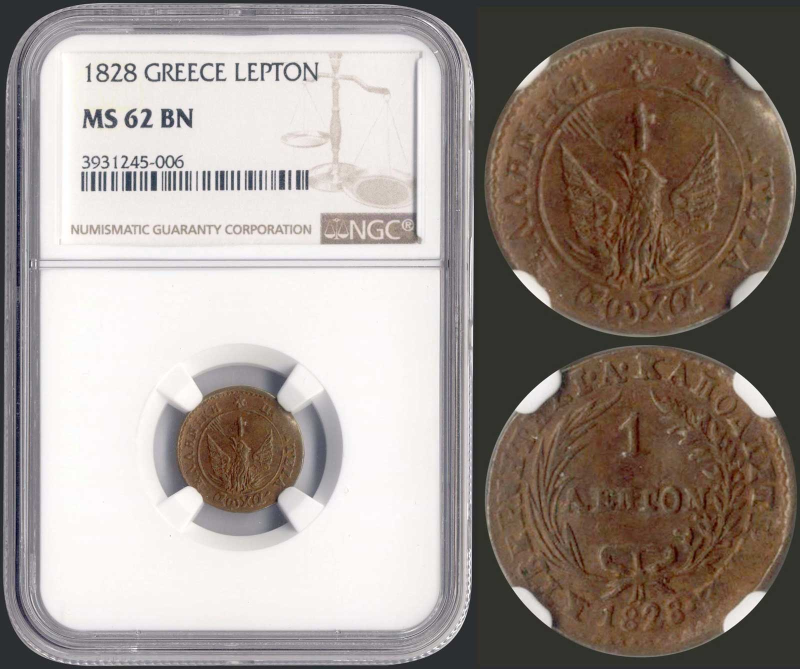 Lot 9003 - GREECE-  COINS & TOKENS governor capodistrias -  A. Karamitsos Public & LIVE Bid Auction 610 Coins, Medals & Banknotes