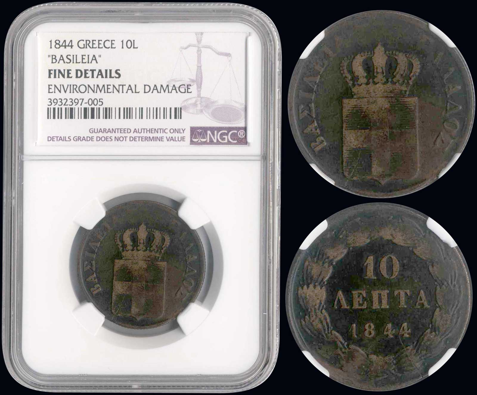 Lot 9076 - GREECE-  COINS & TOKENS king otto -  A. Karamitsos Public & LIVE Bid Auction 606 Coins, Medals & Banknotes