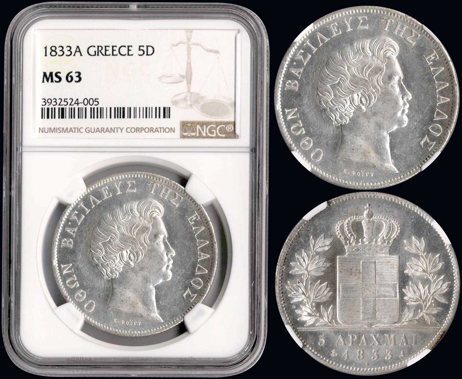 Lot 9055 - GREECE-  COINS & TOKENS king otto -  A. Karamitsos Public & LIVE Bid Auction 610 Coins, Medals & Banknotes