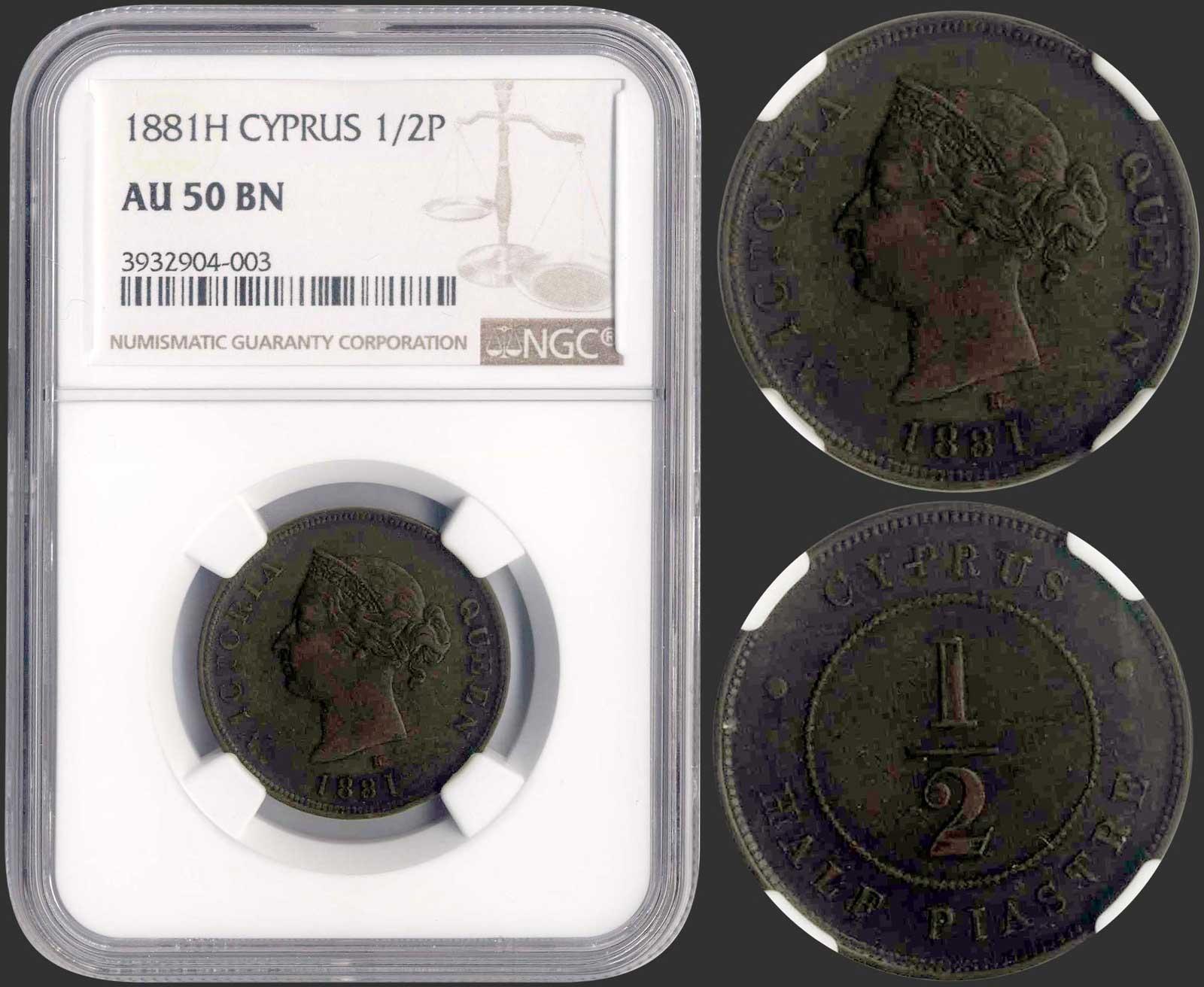 Lot 9181 - CYPRUS-  COINS & TOKENS C Y P R U S -  A. Karamitsos Public & LIVE Bid Auction 610 Coins, Medals & Banknotes