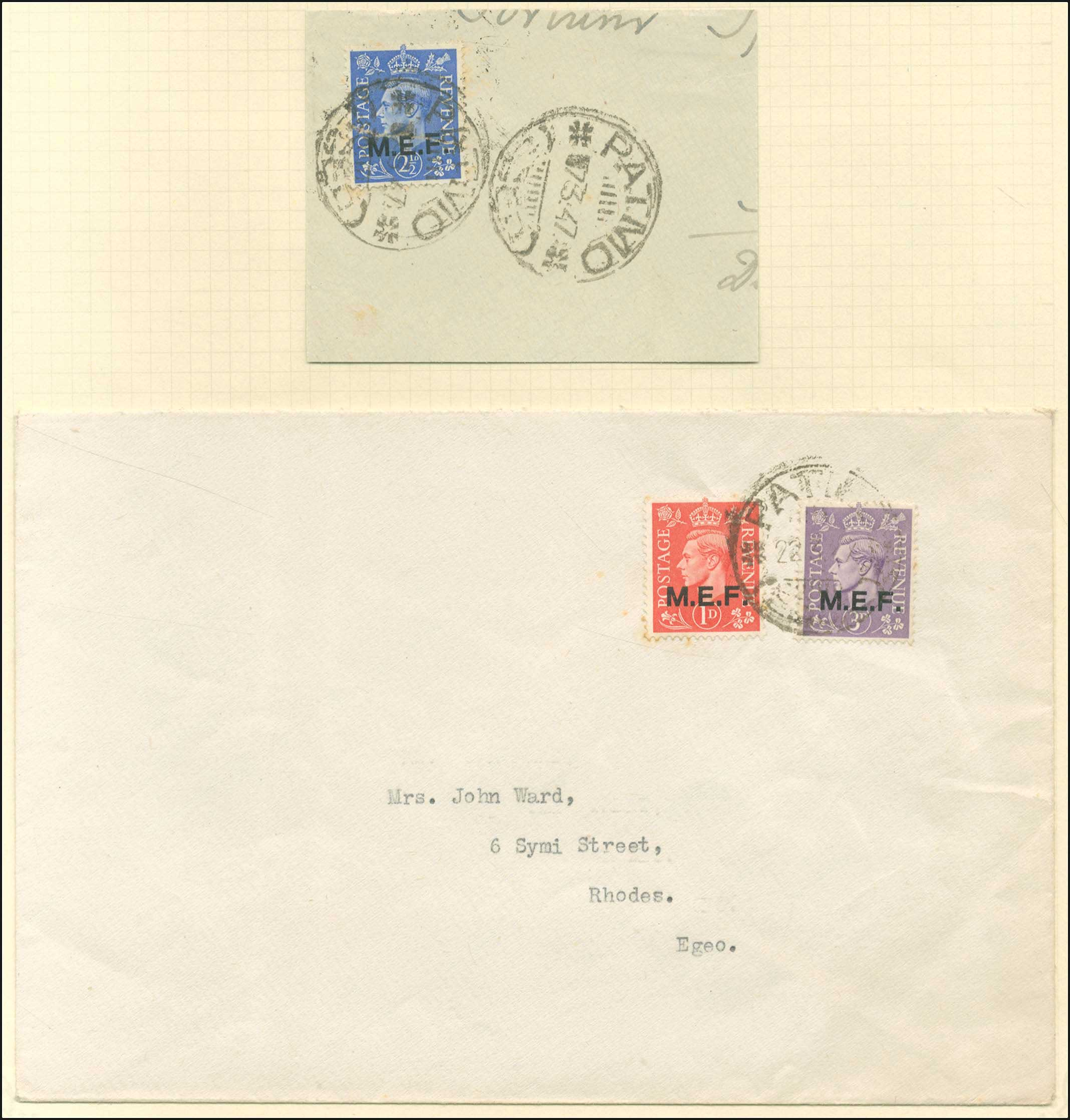 Lot 670 - -  DODECANESE British post-office (m.e.f.) -  A. Karamitsos Public Auction 654