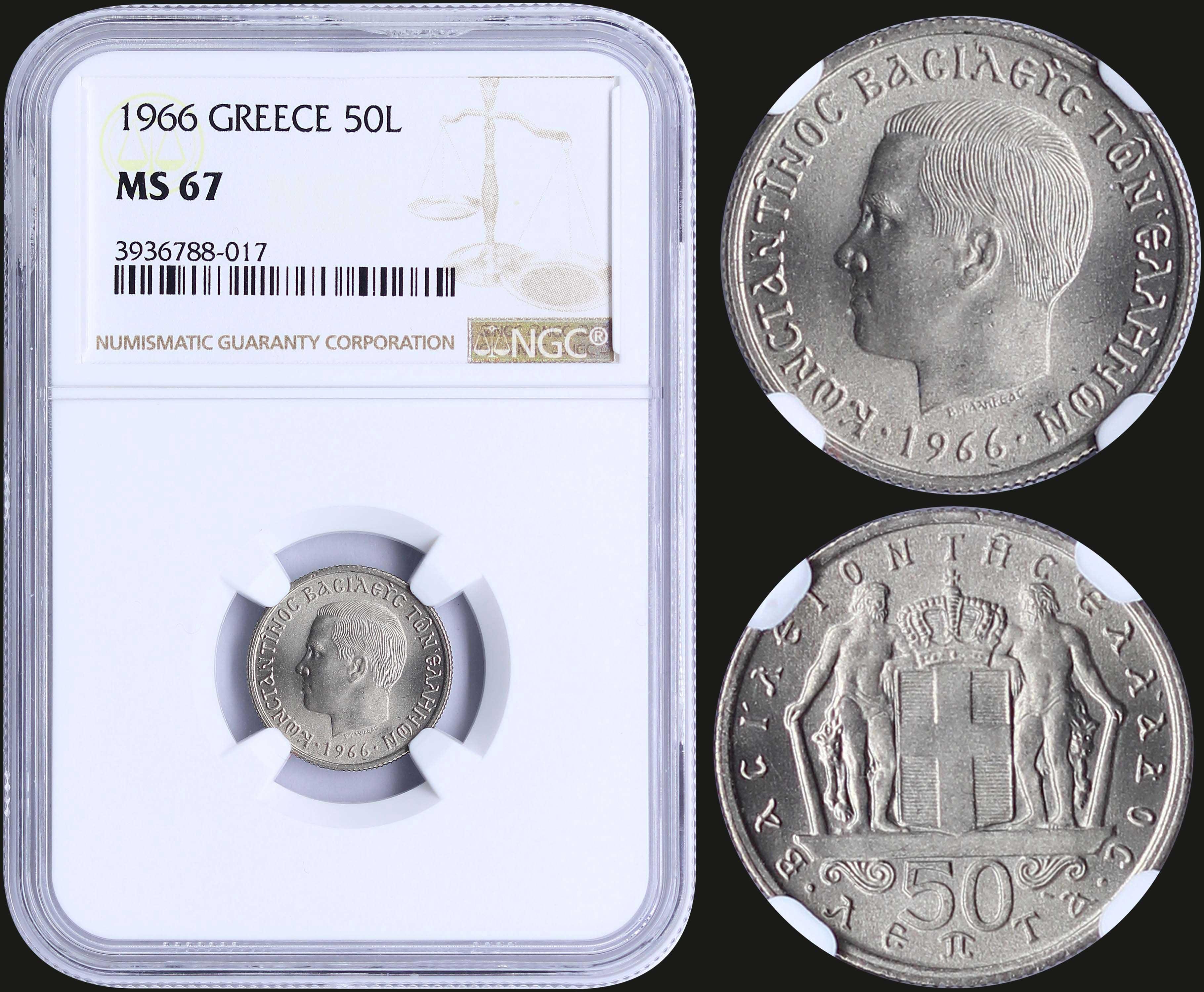 Lot 8204 - -  COINS & TOKENS king constantine ii -  A. Karamitsos Public & Live Bid Auction 644 Coins, Medals & Banknotes