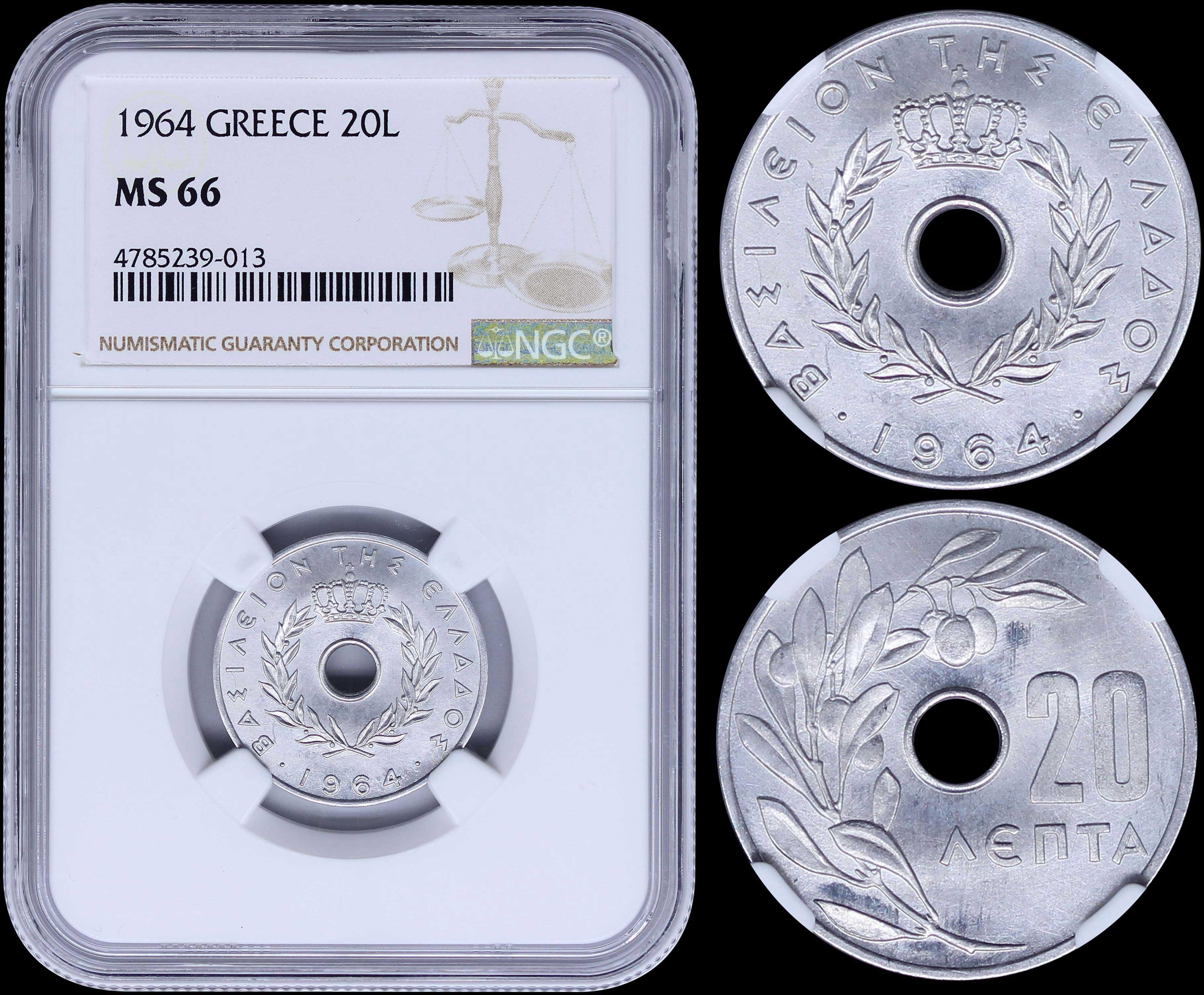 Lot 8199 - -  COINS & TOKENS king constantine ii -  A. Karamitsos Public & Live Bid Auction 644 Coins, Medals & Banknotes