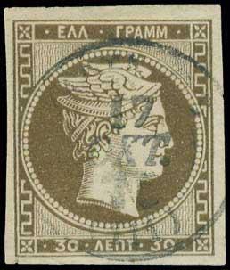 Lot 182 - -  LARGE HERMES HEAD 1876 paris printing -  A. Karamitsos Public & Live Internet Auction 673