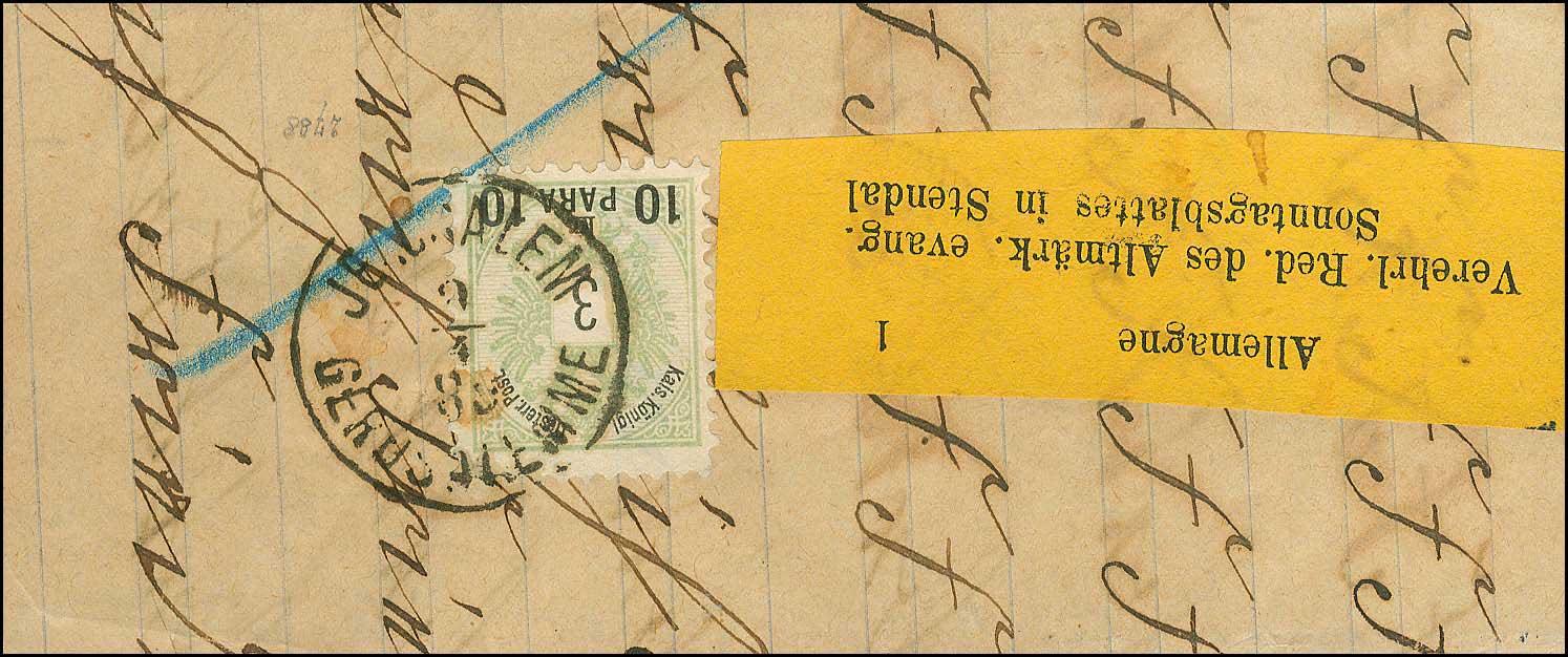 Lot 919 - -  LEVANT AUSTRIAN P.O. -  A. Karamitsos Public Auction 668 General Philatelic Auction