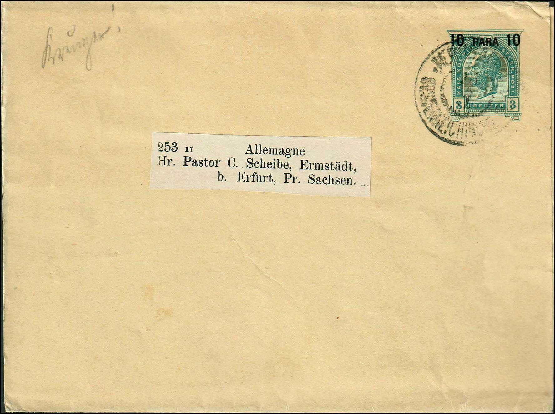 Lot 989 - -  LEVANT AUSTRIAN P.O. -  A. Karamitsos Postal & Live Internet Auction 681 General Philatelic Auction