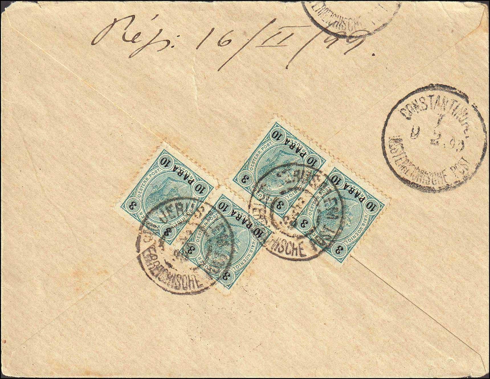 Lot 820 - -  LEVANT AUSTRIAN P.O. -  A. Karamitsos Public Auction № 670 General Sale
