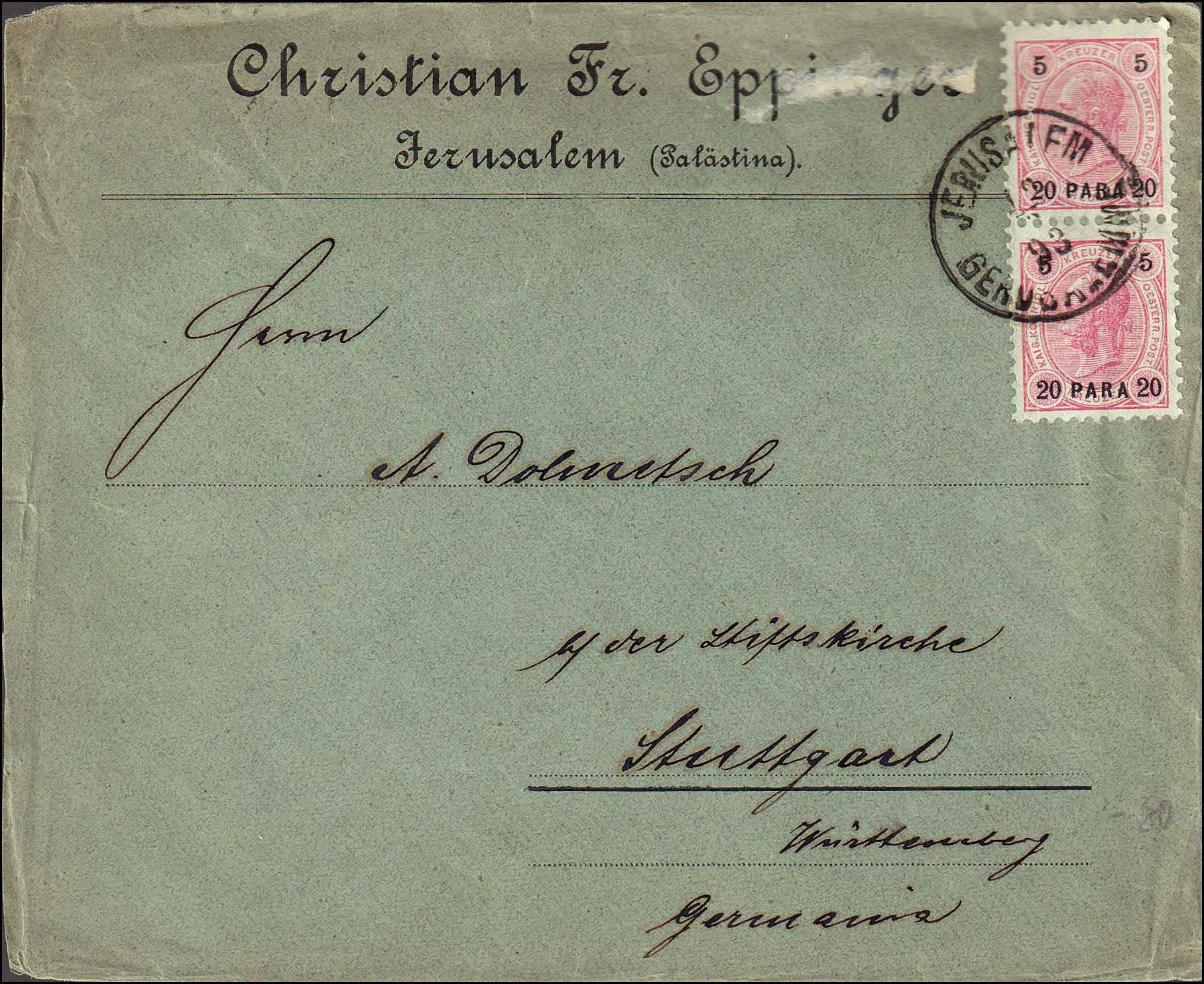 Lot 920 - -  LEVANT AUSTRIAN P.O. -  A. Karamitsos Public Auction 668 General Philatelic Auction