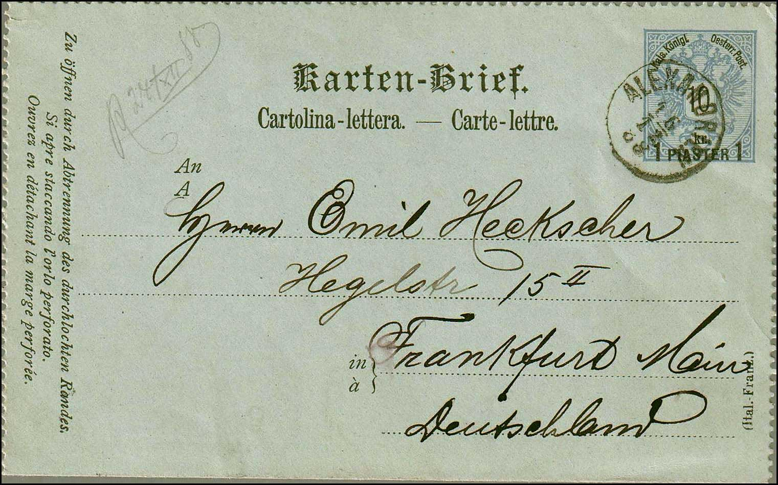 Lot 762 - -  LEVANT AUSTRIAN P.O. -  A. Karamitsos Public Auction № 670 General Sale