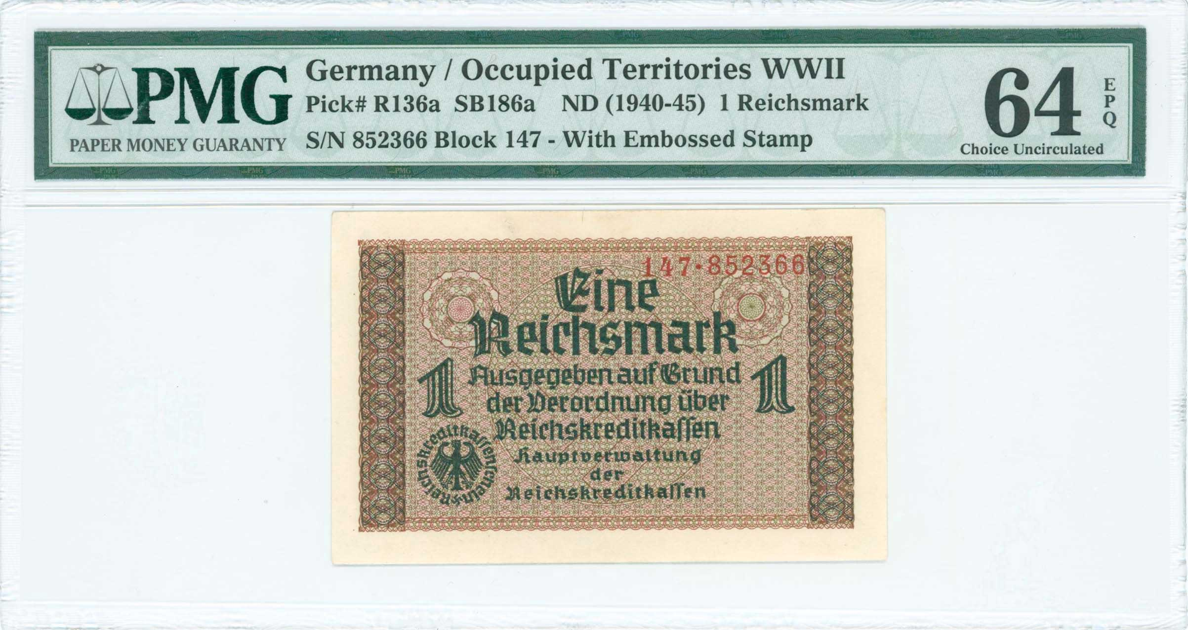 Lot 6715 - -  PAPER MONEY - BANKNOTES german occupation -  A. Karamitsos Public & Live Internet Auction 671 (Part A)