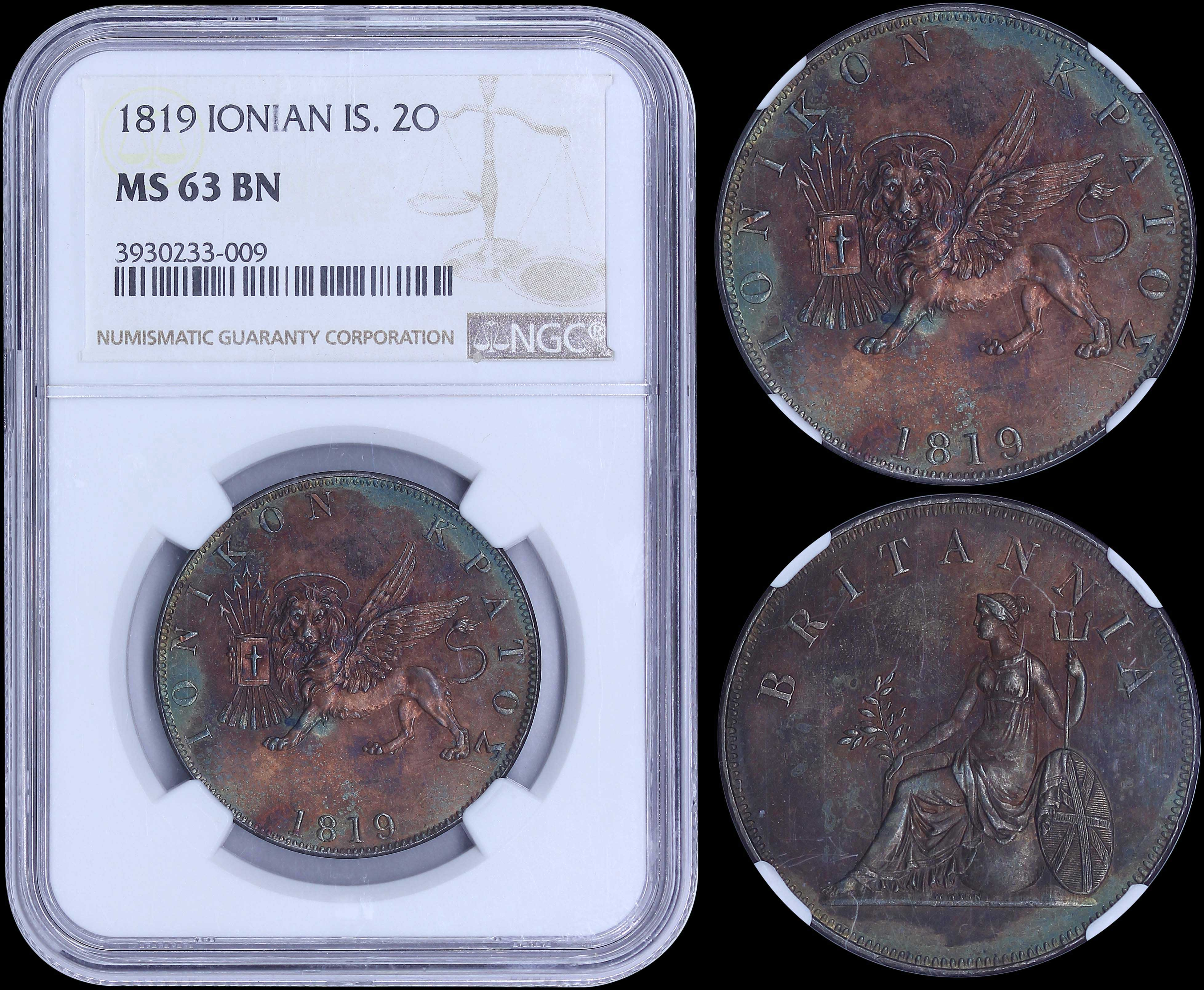 Lot 6286 - -  COINS & TOKENS ionian state -  A. Karamitsos Public & Live Internet Auction 682 (Part A) Coins, Medals & Banknotes