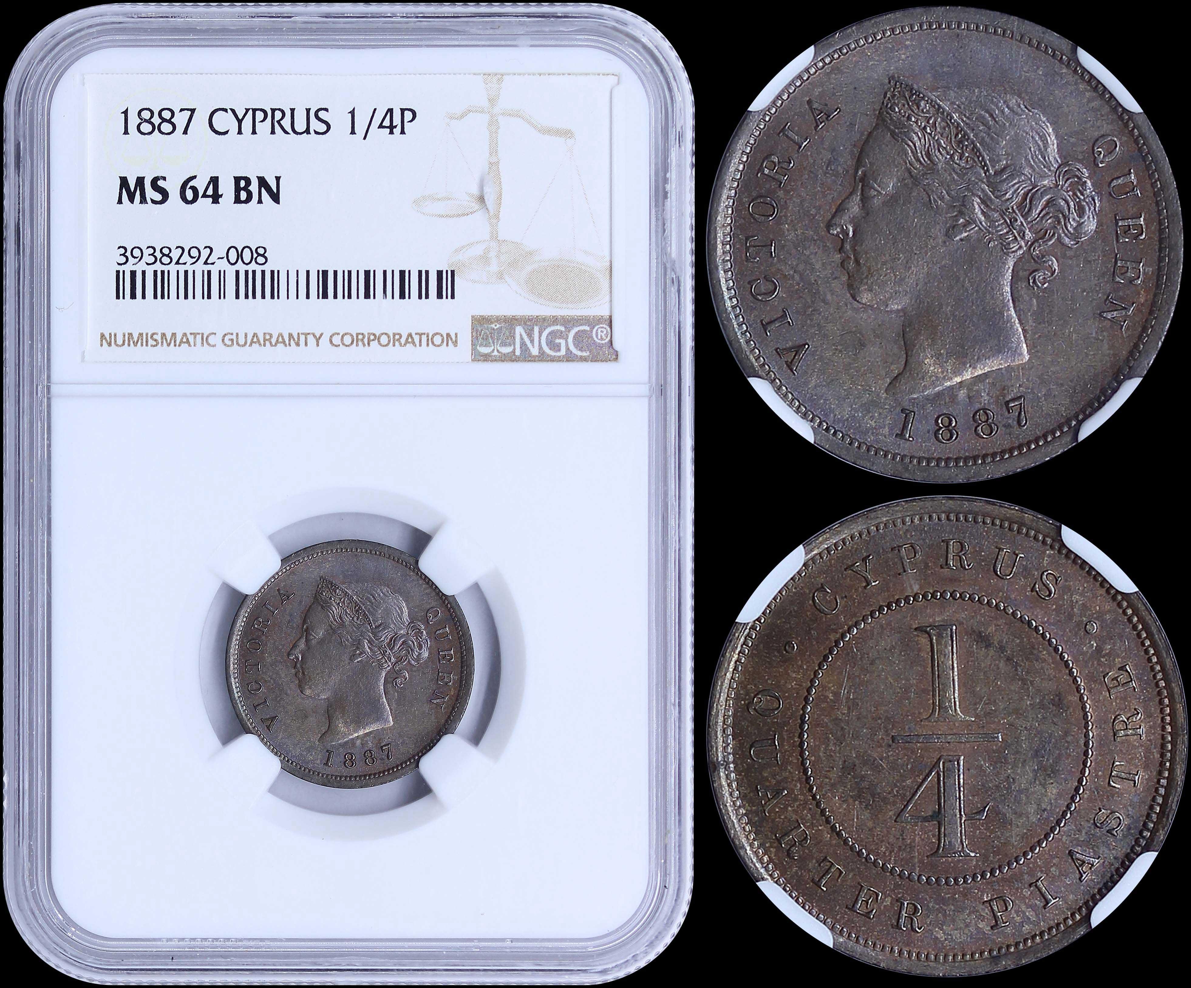 Lot 6291 - -  COINS & TOKENS Cyprus -  A. Karamitsos Public & Live Internet Auction 682 (Part A) Coins, Medals & Banknotes